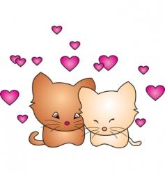 cat vector vector image vector image