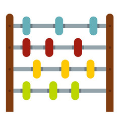 Children abacus icon isolated vector