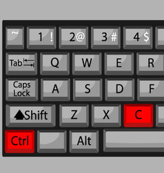 Combination of buttons to copy vector