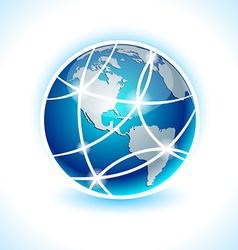 Communication earth - america vector