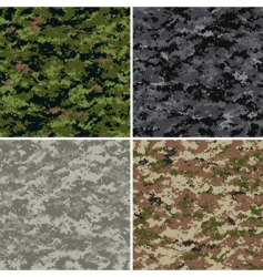Digital camouflage patterns vector