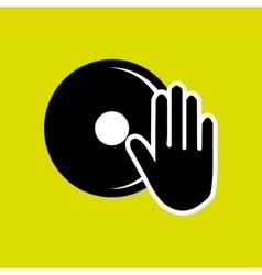 Dj electro music vector image