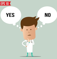 Doctor thinking - - eps10 vector