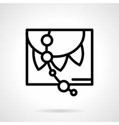 Festive decorations black simple line icon vector image