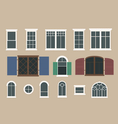 Flat window pack vector