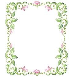 Frame floral vector image vector image