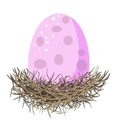 Giant egg in nest vector image vector image