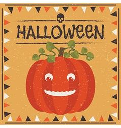Halloween pumpkin decoration vector