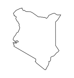 kenya map of black contour curves on white vector image