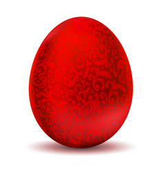 luxurious metallic red easter egg vector image