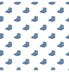 Mens boots pattern cartoon style vector