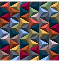 Multicolored background from pyramids vector