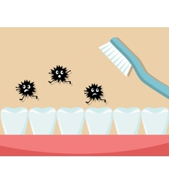Observe hygiene and brush your teeth every day vector