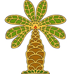 palm tree ornament vector image