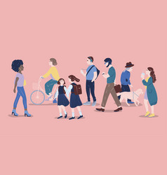 people on street men and women of different age vector image
