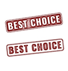 Realistic Best Choice stamps isolated vector image vector image