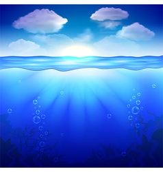 Sky and underwater background vector image vector image