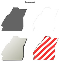 Somerset map icon set vector