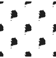 South korea icon in black style isolated on white vector
