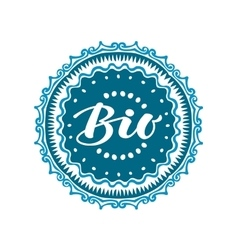Stamp with text Bio written inside Lettering vector image vector image