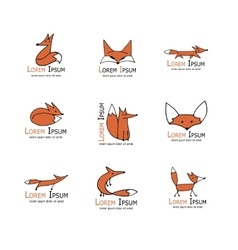Fox icons collection for your design vector