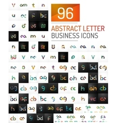 Mega collection of initial letter logo vector