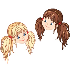 Little girl faces vector