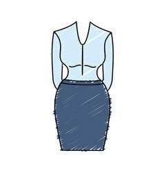 Nice woman wear style design vector