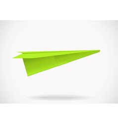 Colorful paper airplane vector image