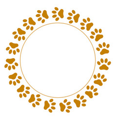 Round frame paws vector