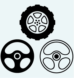 Steering and car wheel vector