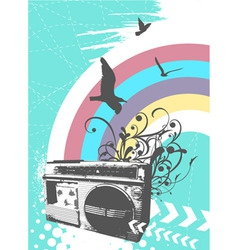 Radio rainbow vector