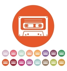 The tape icon cassette symbol flat vector