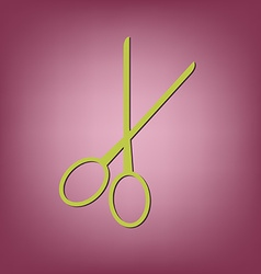 Scissors barbershop vector