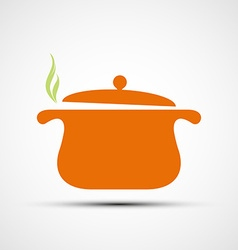 Pan for cooking vector