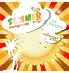 Sun summer abstract background or card vector