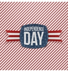 Independence day holiday emblem with type vector
