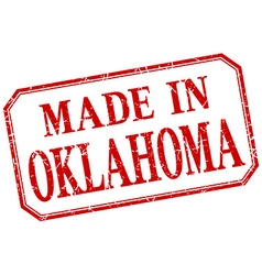 Oklahoma - made in red vintage isolated label vector