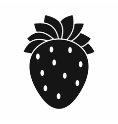 Strawberry icon simple style vector