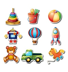 Set of toys stickers vector image