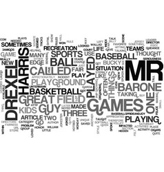 Barone drexel and harris text word cloud concept vector