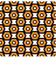Black orange and white seamless abstract vector