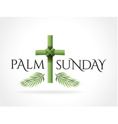 Christian palm sunday cross theme vector