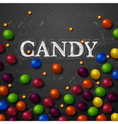 Color candy background chocolate candies vector image vector image