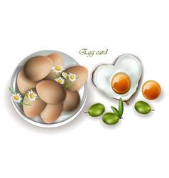 eggs breakfast realistic menu page vector image