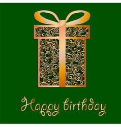 Elegant filigree birthday card in format vector