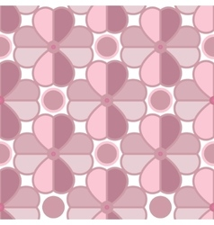 Geometric pattern flowers style mosaic vector image vector image