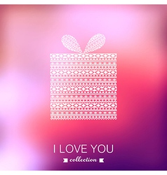 Gift box Valentines Day background Blurred vector image vector image