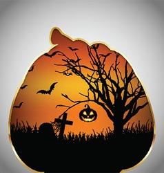 Halloween background pumpkin cut out shape vector