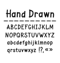 hand drawn uppercase and lowercase letters vector image